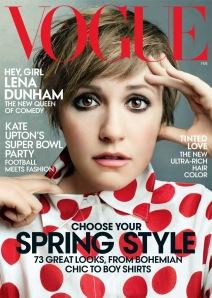 Lena Dunham for American Vogue February 2014